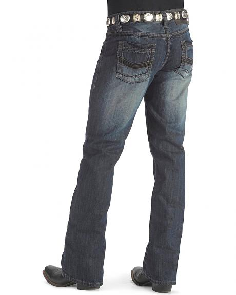 Rock & Roll Cowboy Embroidered Pistol Jeans
