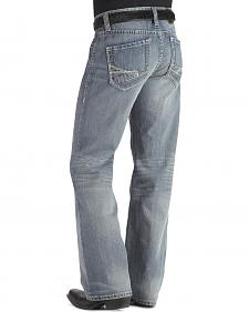 Rock & Roll Cowboy Abstract Embroidered Pocket Cannon Jeans