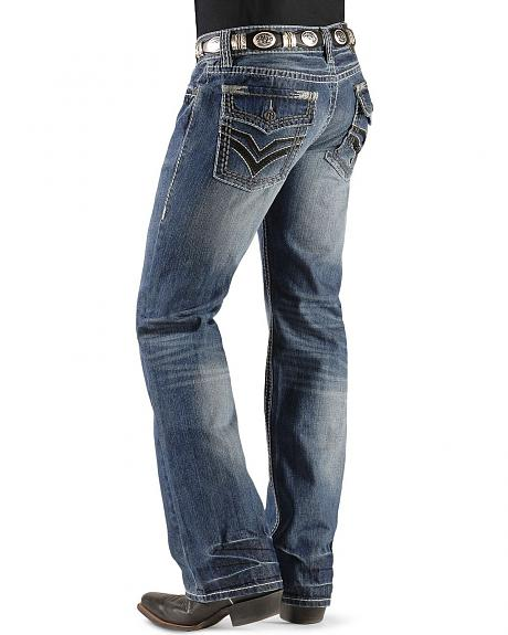 Rock & Roll Cowboy Double V Flap Pocket Jeans - Pistol Slim Fit Bootcut