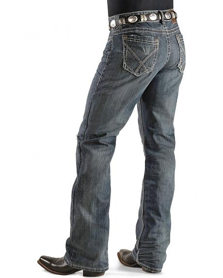Rock & Roll Cowboy Double Barrel Running Stitch Jeans