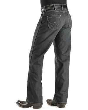 Wrangler Jeans - Worn Black Retro Boot Cut $55.00 AT vintagedancer.com