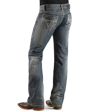 Rock & Roll Cowboy Pistol Heavy Stitched Bootcut Jeans