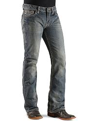 Rock & Roll Cowboy Double Barrel Pistol Bean Stitched Boot Cut Jeans at Sheplers