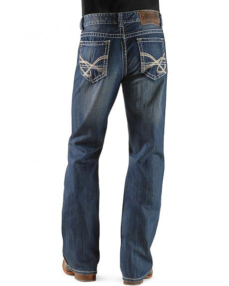 Rock & Roll Cowboy Light Wash Relaxed Fit Boot Cut Jeans