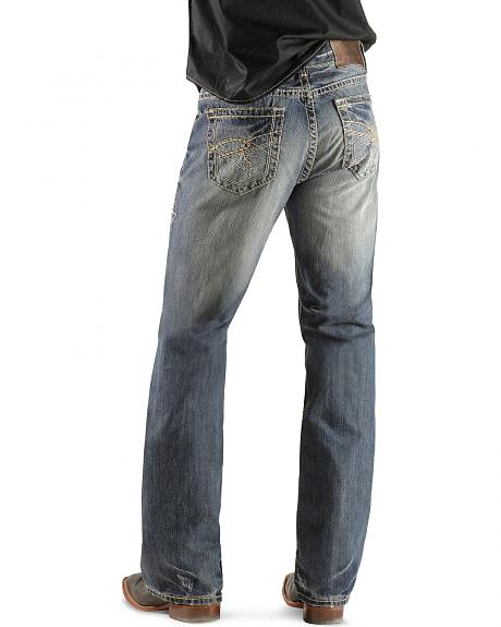 Rock & Roll Cowboy Double Barrel Abstract Pocket Jeans