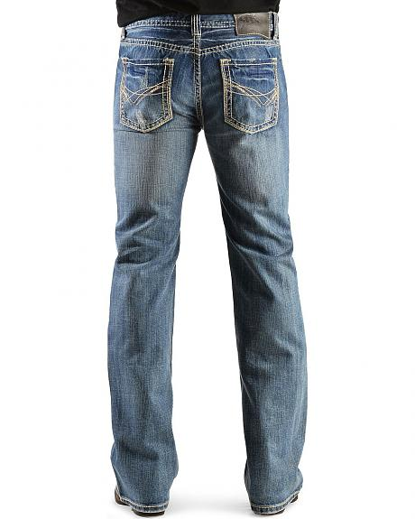 Rock & Roll Cowboy Multi Stitch Pistol Slim Bootcut Jeans