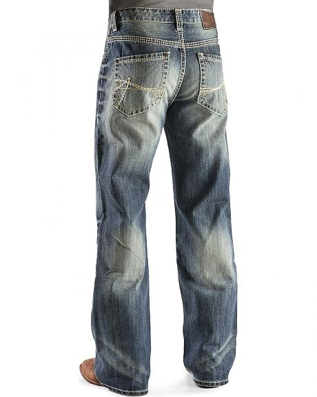 Rock & Roll Cowboy Cannon Abstract Pocket Jeans