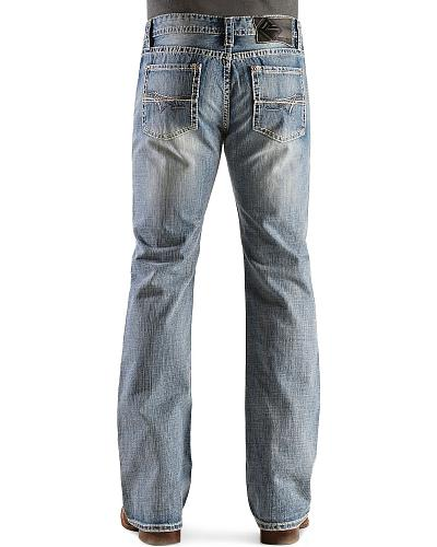 Rock & Roll Cowboy Pistol Abstract Pocket Bootcut Jeans Western & Country MOP8568