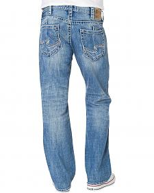 Silver Zac Light Wash Relaxed Fit Straight Leg Jeans