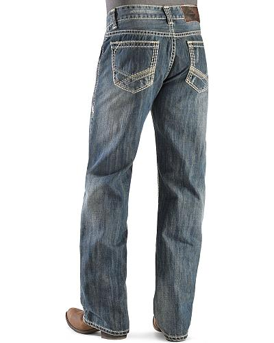 Rock & Roll Cowboy Double Barrel Straight Dark Wash Jeans Western & Country M0S9552