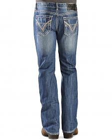 "Rock & Roll Cowboy Pistol Straight Leg""V"" Pocket Jeans"