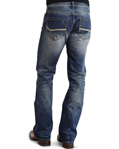Stetson Rock Fit Bold Stitched Jeans Western & Country 11-004-1014-4000 BU