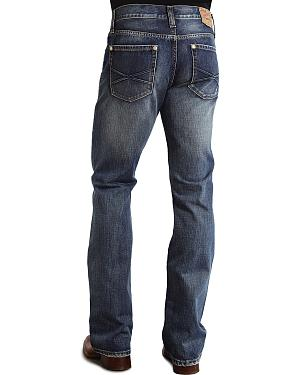 "Stetson Rock Fit Embossed ""X"" Stitched Jeans"