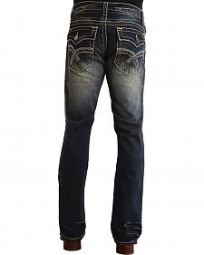 "Stetson Rock Fit Curved ""X"" Stitched Flap Pocket Jeans"
