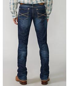 "Stetson Rock Fit Barbwire ""X"" Stitched Jeans"