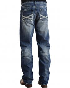 "Stetson Modern Fit Frayed ""X"" Stitched Jeans"