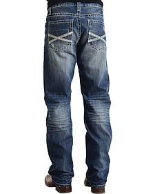 "Stetson Modern Fit Frayed ""X"" Stitched Jeans"