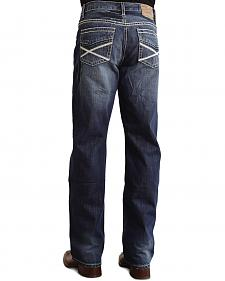 "Stetson Modern Fit Heavy ""X"" Stitched Jeans"