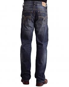 "Stetson Modern Fit Curved ""X"" Stitched Jeans"