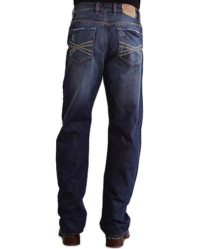 """Stetson 1520 Fit Contrasting """"X"""" Stitched Jeans Western & Country 11-004-1520-4050 BU"""