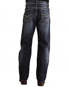 "Stetson 1520 Fit Bold ""X"" Stitched Jeans"