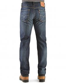 Levi's 505 Shoestring Rinse Straight Leg Jeans