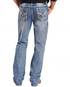"Rock & Roll Cowboy Double Barrel Abstract ""V"" Pocket Jeans"