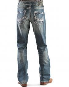 Wrangler Rock 47 Back Beat Slim Fit Bootcut Jeans