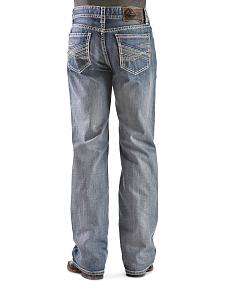 Rock & Roll Cowboy Double Barrel Abstract Straight Leg - Relaxed Fit