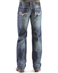 """Rock & Roll Cowboy Pistol """"V"""" Straight Leg Jeans - Regular Fit"""