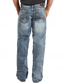 Rock & Roll Cowboy Men's Cannon Relaxed Fit Straight Leg Jeans