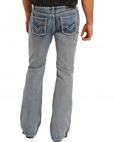 Rock & Roll Cowboy Men's Pistol Regular Fit Bootcut Jeans