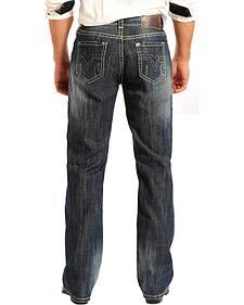 Rock & Roll Cowboy Men's Double Barrel Relaxed Fit Straight Leg Jeans