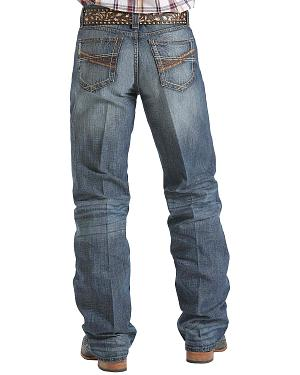 Cinch Grant Medium Stonewash Bootcut Jeans - Relaxed Fit
