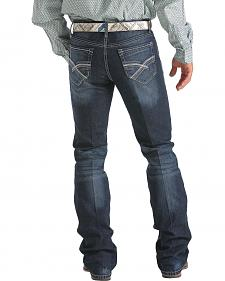 Cinch Ian Dark Stonewash Bootcut Jeans - Slim Fit