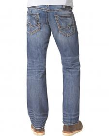 Silver Zac Dark Wash Jeans - Relaxed Fit