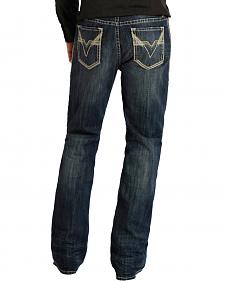 "Rock and Roll Cowboy Double Barrel Relaxed Fit ""V"" Pocket Jeans - Boot Cut"