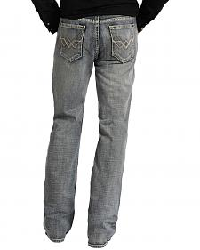 "Rock and Roll Cowboy Double Barrel Relaxed Fit Connected ""V"" Pocket Jeans"