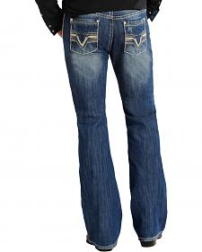 "Rock and Roll Cowboy Pistol Regular Fit ""V"" Pocket Jeans - Boot Cut"