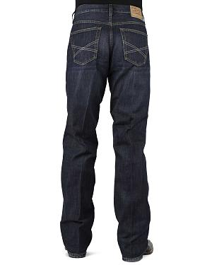 Stetson 1312 Relaxed Fit Jeans with Flag Detail - Boot Cut