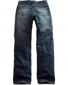 Tin Haul Men's Regular Joe Straight Leg Sand Blasted Jeans