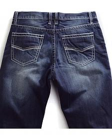 Tin Haul Men's Regular Joe Straight Leg Contrast Stitch Jeans