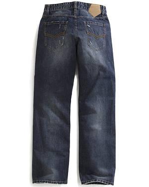 Tin Haul Mens Regular Joe Straight Leg Striped Lining Jeans