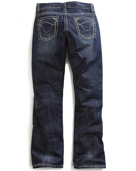 Tin Haul Men's Jagger Fit Multi Stitch Bootcut Jeans