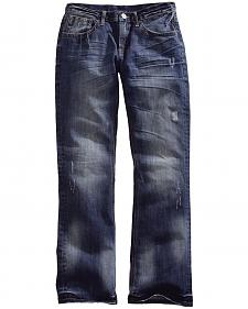 Tin Haul Men's Jagger Fit Two-Tone Stitch Bootcut Jeans