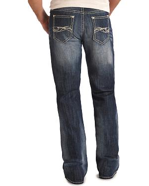 Rock and Roll Cowboy Double Barrel Abstract Jeans - Boot Cut