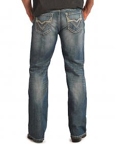 "Rock & Roll Cowboy Double Barrel Abstract ""V"" Pocket Relaxed Fit Jeans"