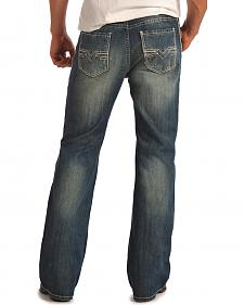 Rock and Roll Cowboy Double Barrel Relaxed Fit Dark Wash Jeans - Boot Cut