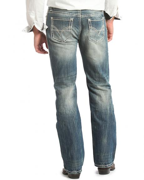 Rock & Roll Cowboy Double Barrel Straight Leg Relaxed Fit Jeans