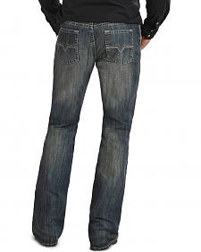 "Rock & Roll Cowboy Pistol ""V"" Pocket  Medium Wash Jeans"
